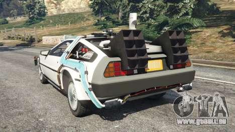 GTA 5 DeLorean DMC-12 Back To The Future v0.5 hinten links Seitenansicht