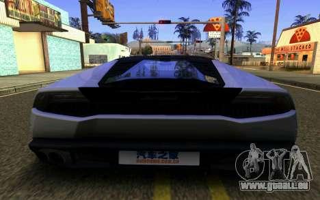 Lamborghini Huracan LP610 VELLANO für GTA San Andreas Seitenansicht