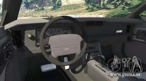 GTA 5 Chevrolet Camaro IROC-Z [Beta 2] arrière droit vue de côté