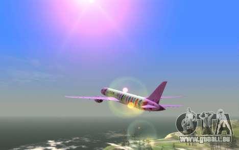 LoveLive Boeing 787-9 Livery für GTA San Andreas zurück linke Ansicht