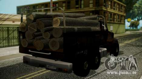 New Flatbed Hard Forest für GTA San Andreas linke Ansicht