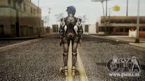 Kingdom Hearts Birth by Sleep - Armor Aqua für GTA San Andreas dritten Screenshot