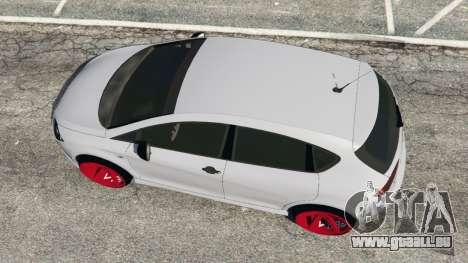 GTA 5 SEAT Leon II 2010 v1.1 Rückansicht