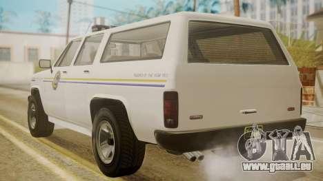 GTA 5 Declasse Rancher XL Police pour GTA San Andreas laissé vue