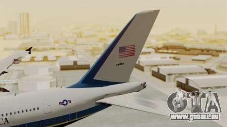 Airbus A380 Air Force One für GTA San Andreas zurück linke Ansicht