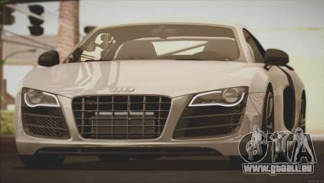 Audi R8 GT 2012 Sport Tuning V 1.0 für GTA San Andreas obere Ansicht