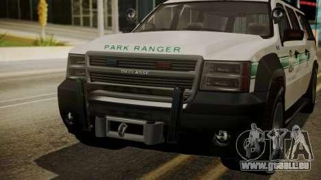GTA 5 Declasse Granger Park Ranger IVF für GTA San Andreas Innenansicht