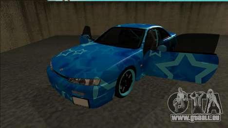 Nissan Silvia S14 Drift Blue Star für GTA San Andreas Rückansicht