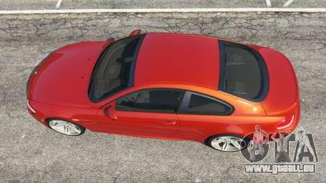 GTA 5 BMW M6 (E63) Tunable v1.0 vue arrière