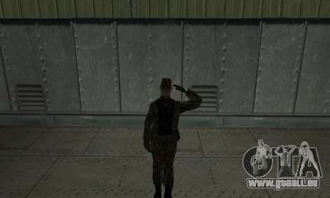 Militaire de salut pour GTA San Andreas deuxième écran