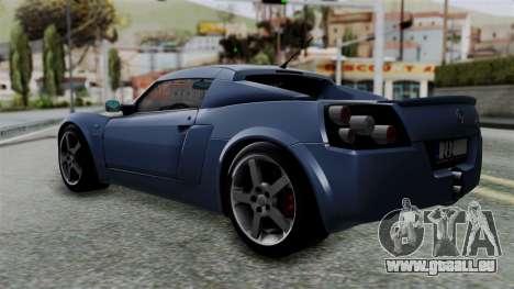 Opel Speedster Turbo 2004 Stock pour GTA San Andreas laissé vue