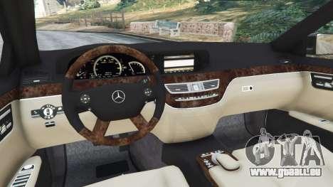 GTA 5 Mercedes-Benz S600 (W221) 2009 arrière droit vue de côté