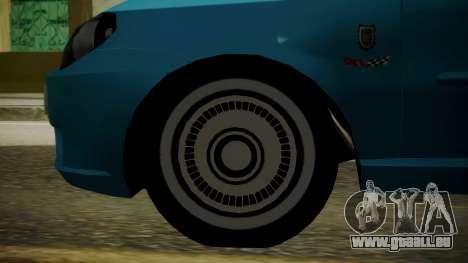 Fiat Albea Sole für GTA San Andreas zurück linke Ansicht