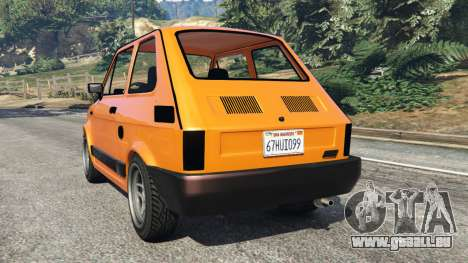 GTA 5 Fiat 126p v1.0 hinten links Seitenansicht