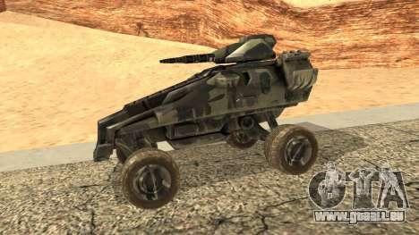 Ghost from Metal War für GTA San Andreas linke Ansicht