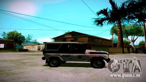 UAZ-chasseur Service PPP pour GTA San Andreas vue arrière