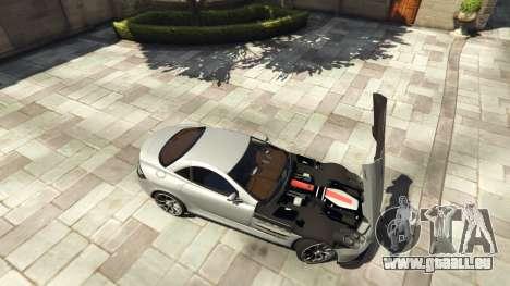 GTA 5 Mercedes-Benz SLR 2005 v2.0 arrière droit vue de côté