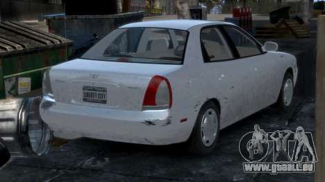 Daewoo Nubira I Sedan SX USA 1999 pour GTA 4 Salon
