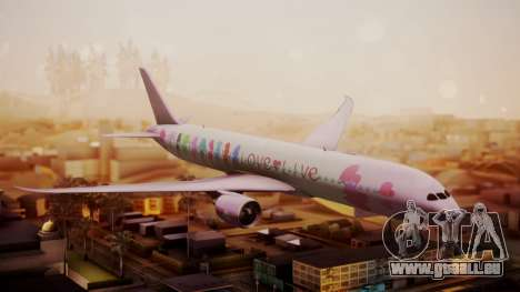 Boeing 787-9 LoveLive Livery für GTA San Andreas