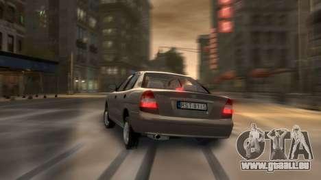Daewoo Nubira II Sedan S PL 2000 pour GTA 4 est une vue de dessous