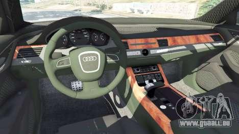 GTA 5 Audi A8 avant droite vue de côté
