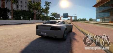 Aston Martin DB9 Vice City Deluxe für GTA 4 Rückansicht