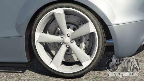 GTA 5 Audi TT RS 2013 arrière droit vue de côté