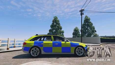 GTA 5 Audi A4 Avant 2013 British Police linke Seitenansicht
