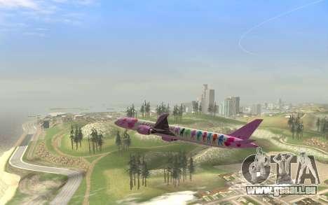 LoveLive Boeing 787-9 Livery pour GTA San Andreas vue de droite