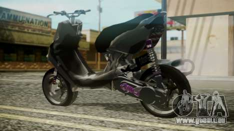 MBK Booster Rocket Tuning pour GTA San Andreas laissé vue