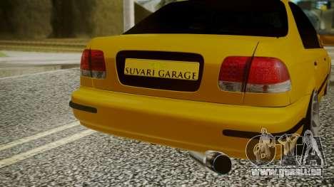 Honda Civic Sedan für GTA San Andreas Rückansicht