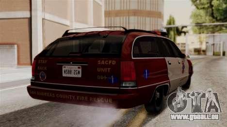 Chevy Caprice Station Wagon 1993-1996 SACFD pour GTA San Andreas laissé vue