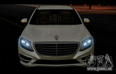 Mercedes Benz S63 W222 Des Articles De Qualité pour GTA San Andreas vue de côté