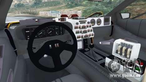 GTA 5 DeLorean DMC-12 Back To The Future v0.5 hinten rechts