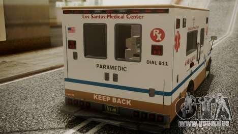 GTA 5 Brute Ambulance für GTA San Andreas Rückansicht