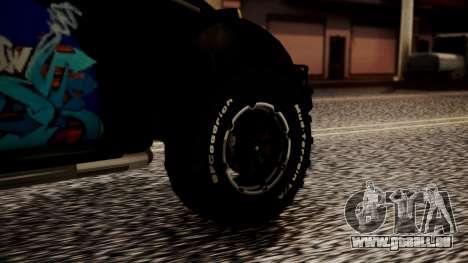 Volkswagen Beetle Vocho-Buggy pour GTA San Andreas sur la vue arrière gauche
