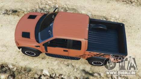 GTA 5 Ford F-150 SVT Raptor 2012 v2.0 vue arrière