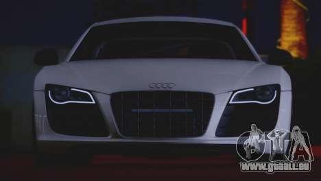 Audi R8 GT 2012 Sport Tuning V 1.0 pour GTA San Andreas vue intérieure