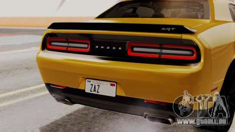 Dodge Challenger SRT Hellcat 2015 IVF PJ pour GTA San Andreas vue de dessus