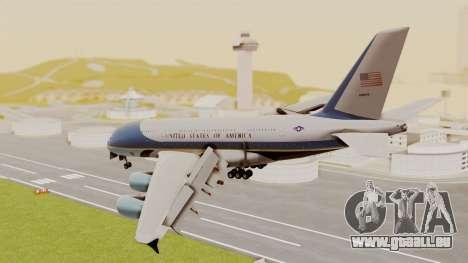 Airbus A380 Air Force One pour GTA San Andreas laissé vue