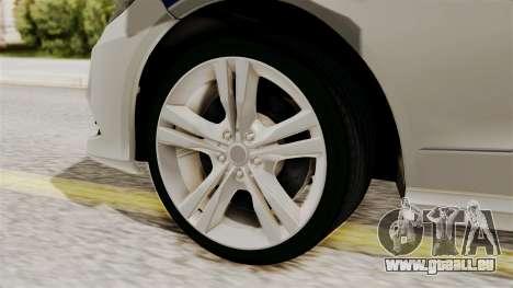 Mercedes-Benz E500 Innenministeriums Verkehrspol für GTA San Andreas zurück linke Ansicht