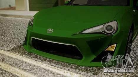 Toyota GT86 2012 für GTA San Andreas Seitenansicht