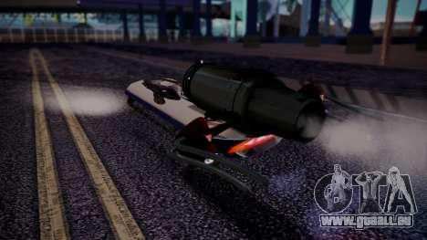 Hovercraft Vocaloid pour GTA San Andreas laissé vue