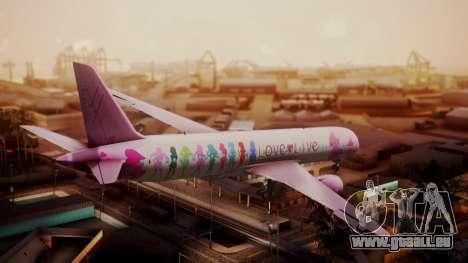 Boeing 787-9 LoveLive Livery für GTA San Andreas linke Ansicht
