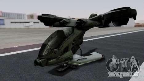 Hornet Halo 3 pour GTA San Andreas laissé vue