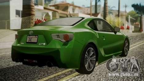 Toyota GT86 2012 für GTA San Andreas linke Ansicht