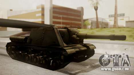 ISU-152 from World of Tanks pour GTA San Andreas laissé vue