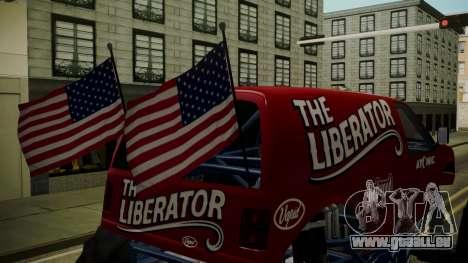 GTA 5 Vapid The Liberator IVF pour GTA San Andreas vue arrière