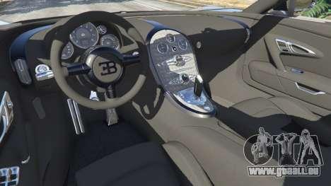 GTA 5 Bugatti Veyron Grand Sport v5.0 arrière droit vue de côté