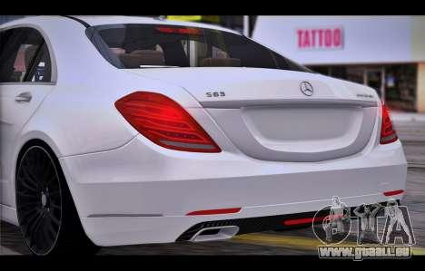 Mercedes Benz S63 W222 Des Articles De Qualité pour GTA San Andreas vue de droite